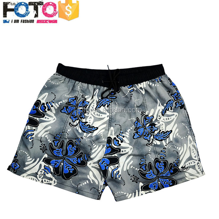 2017 New Style Free sample 100% polyster women custom boardshorts beach polyamide swim shorts