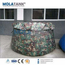Recycled collapsible pillow soft blow moulding water tank for people for farming industry