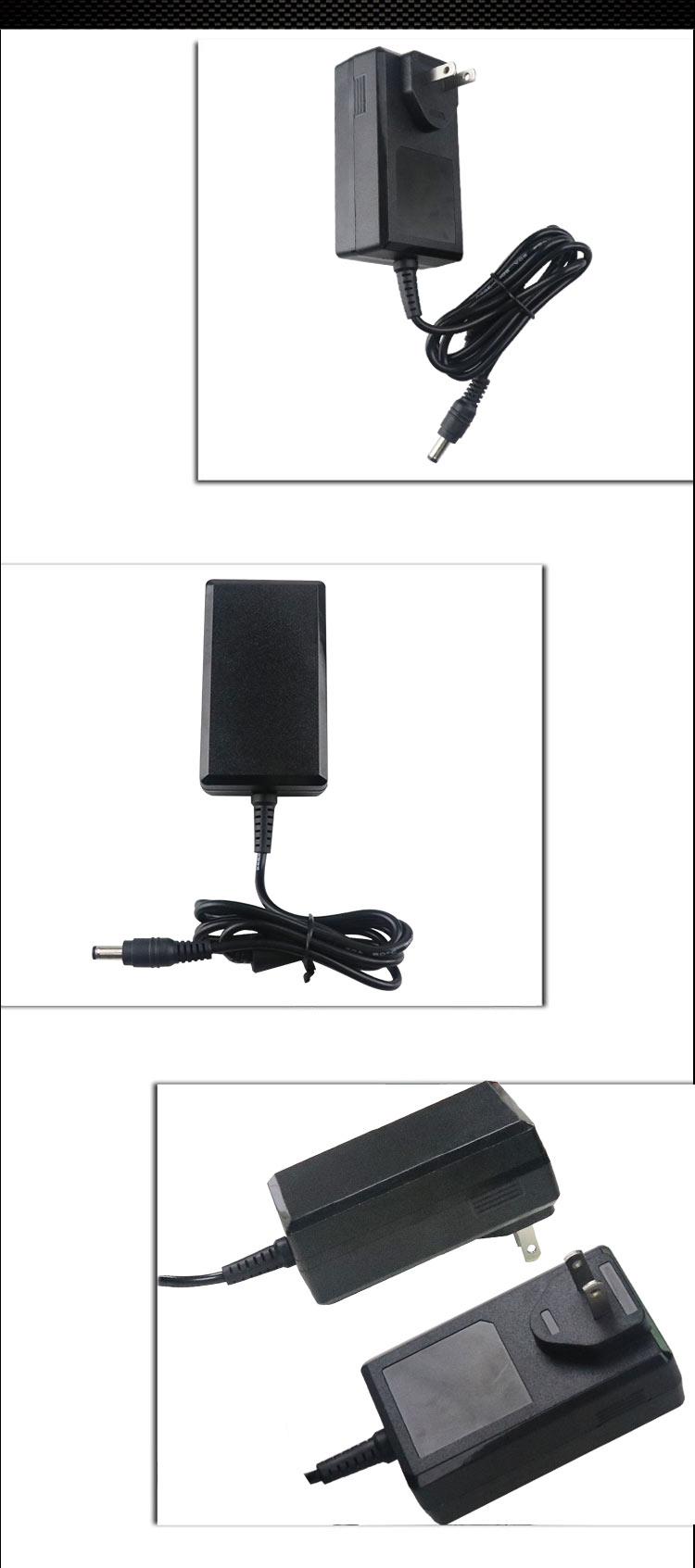 High Quality Wall Mounted adapter 36w ac dc 12v 3a Power Adapter 5.5*2.5mm dc jack