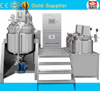500L mixer heat jacket vacuum cream making machine vacuum emulsifying mixer