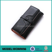 Large capacity Long custom ladies PU leather clutch coin purse credit card wallet