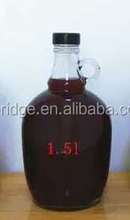 California 1.5 liter big capacity red wine glass bottle for liquor