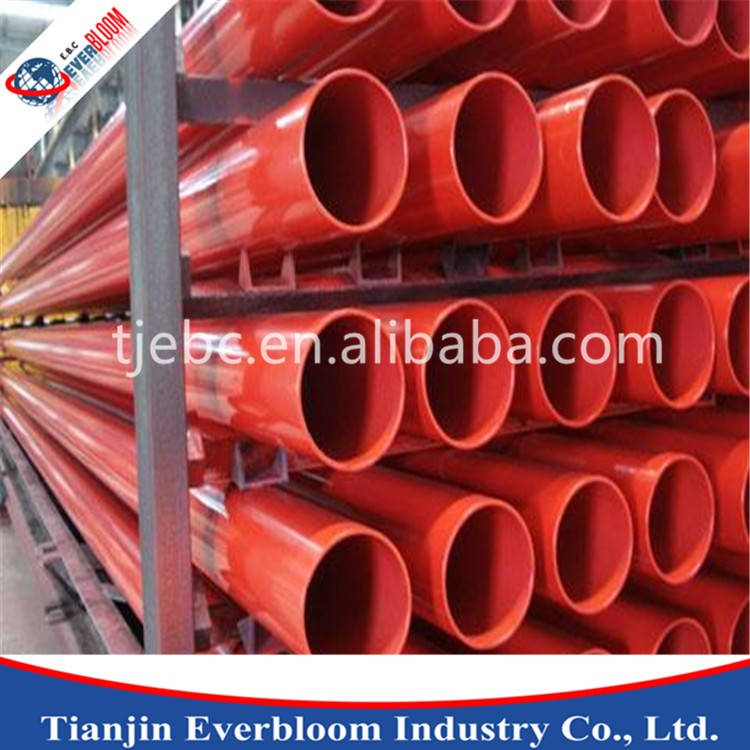 hot dip galvanized steel pipe plastic end caps PVC coated steel pipe