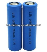lithium rechargeable battery 14500 li ion battery 3.7V 700mAh aa size battery