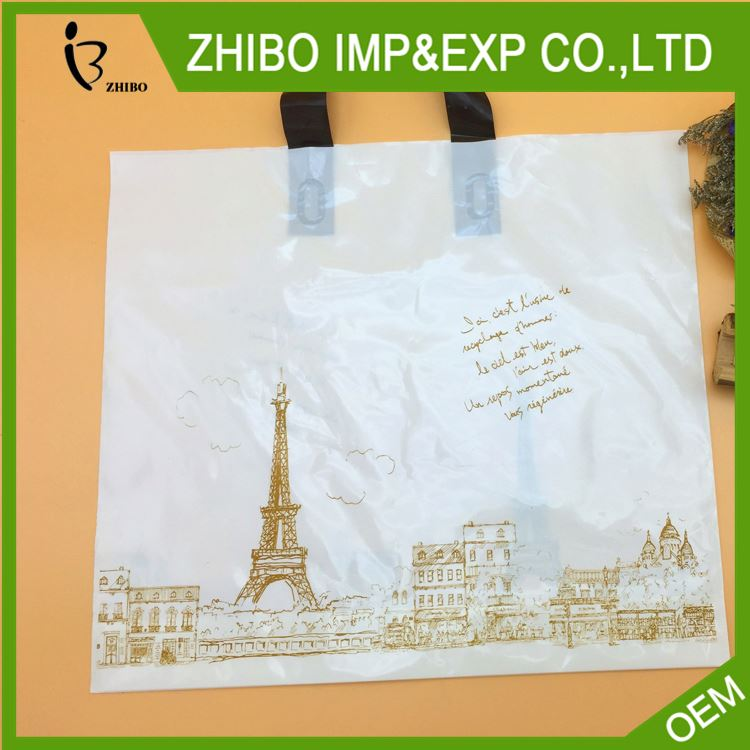 Hot sale attractive style pe plastic shopping carrier bag with many colors