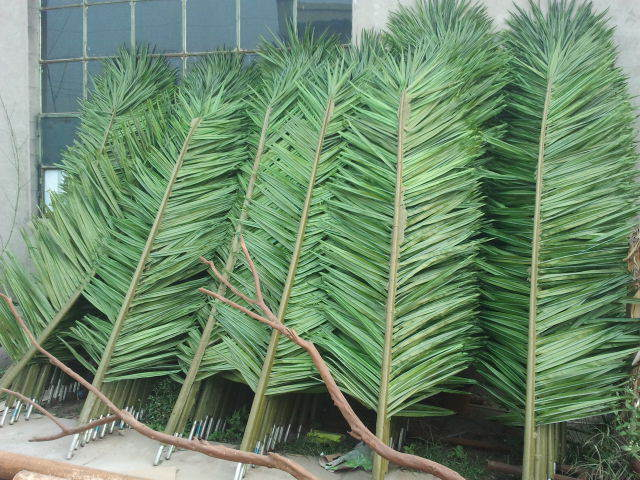 Artificial palm leaf, plastic leaf,coconut leaf