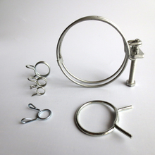 Hot Selling Double Wire Standard size metal band elastic stainless steel pipe clamp in China