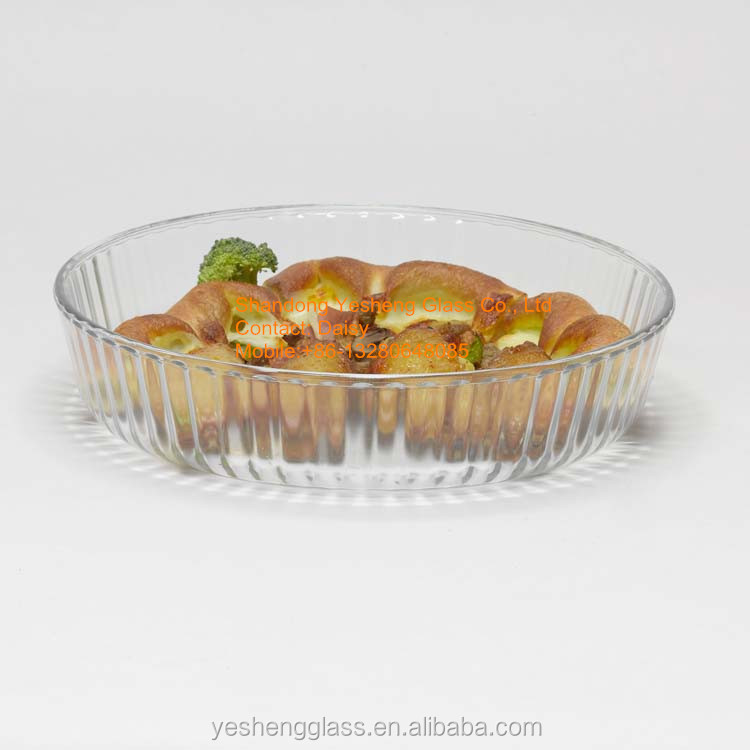Round tempered glass baking tray/Glass cakeware baking Pizza pan