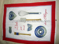 Kitchen set printing 100%cotton kitchen towel for promotion