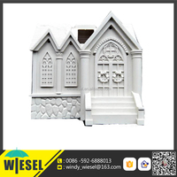plastic castle crafts with led lights progress injection molding