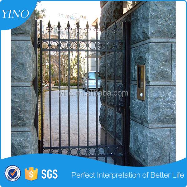 Outdoor garden wrought iron interior door IG-1-050