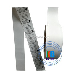 Thermal transfer labels barcode printing pu taffeta washable laundry tag