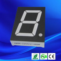 KEM-12011-BSRG 1.2 inch 1 digit 7 segment led display dual color