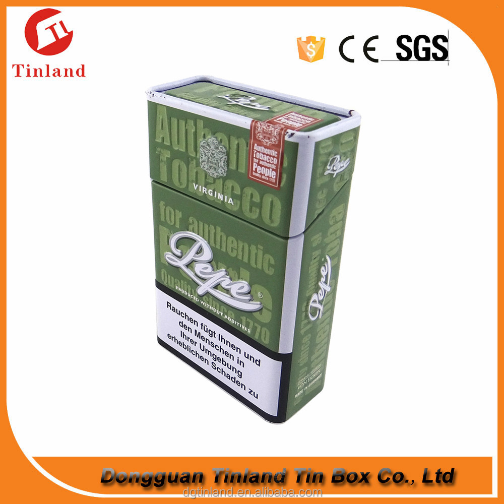 Tobacco Tin Box For Cigarettes Pack