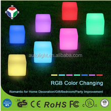 IP68 Waterproof RGBW Color Changing Decorative LED Mood Cube Light