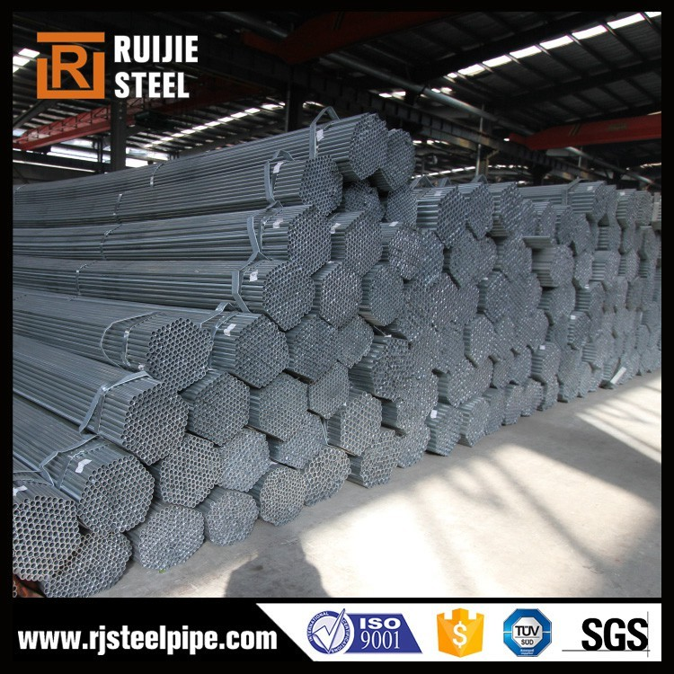 GB galvanized steel pipe for greenhouse frame/thermal conductivity galvanized steel pipe