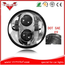 5 3/4 inch 40w black chrome Led motorcycle Head Light Head Lamp for harley