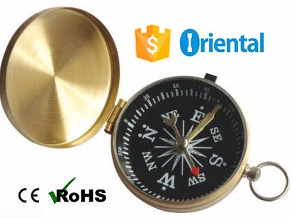 Hot Item Golden color Compass Copper Raw Material,Keyring Gift Compass G453 Top Selling Products In Alibaba