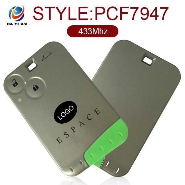 for renault espace laguna megane smart key cards 3 buttons car remote key covers wholesale with logo AK010019