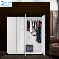 high quality MDF melamine material design bedroom furniture wardrobe