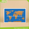 World map printed customized bulletin cork board pin board