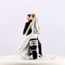 Wedding Favors Motorcycle Get Away Custom Couple Cake Topper