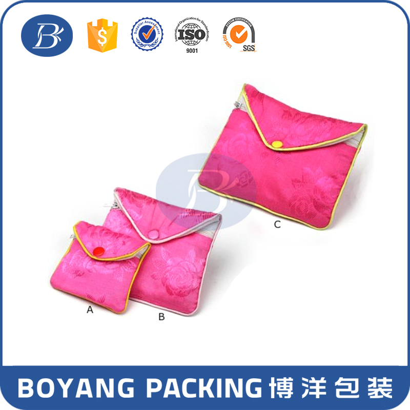 factory direct manufacture luxury high quality end rose satin clutch evening bag