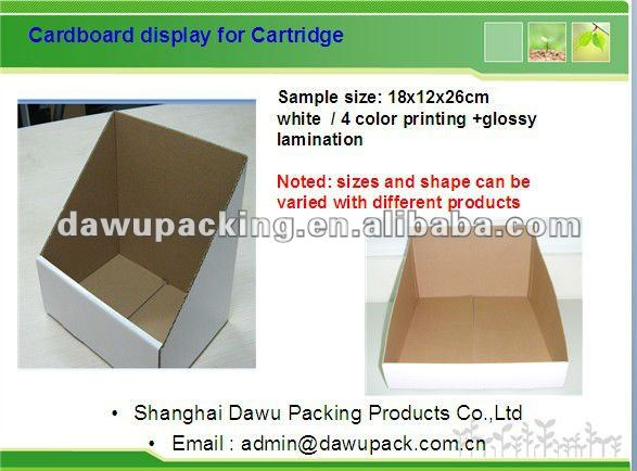Simple promotion box/ Cheap counter display stand,
