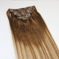 Hair Extension Clip In Set To Make Thicker & Longer Hair