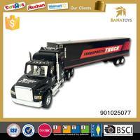 Promotional inertia friction miniature trailer truck