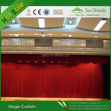 Grey,Black and Red Color Heavy Velet Curtains Velvet Electric/Motorized Stage Curtain