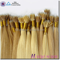 Direct hair factory wholesale products china aliexpress hair remy nano bead human hair extensions