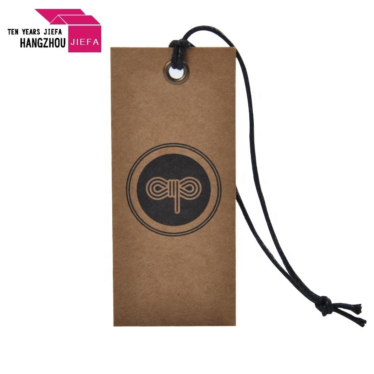China Supplier Eco-friendly Kraft Paper Hang Tag String Hang Tag Custom