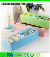 Home Storage Socks/Underwear Storage Box Plastic Organizer Box Home Containers