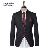 Hot Selling Wholesale 4 Piece Men's Formal Tuxedo Suits, Shining Wedding Best Men's Suits, 2016 Wedding Dress suits for men's