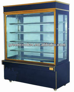 commercial cake display refrigerator showcase