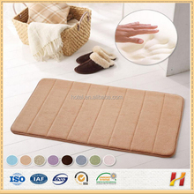China manufacture polyester custom size water absorbent bath rugs