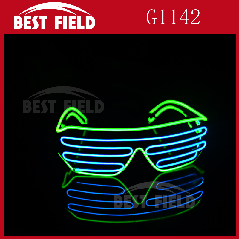 EL sound control new glow flashing Glow party glasses