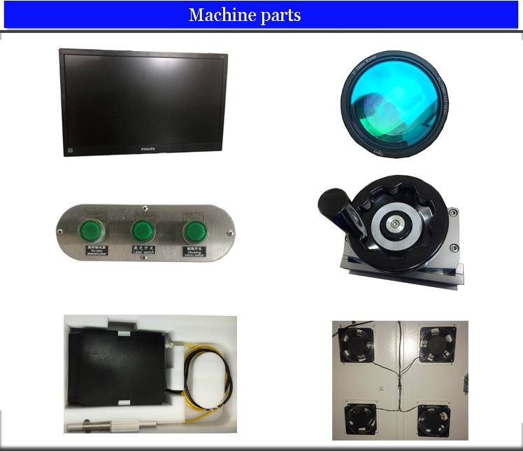 Most popular Hanniu 20W lock metal rotary fiber laser marking machine for jewelry