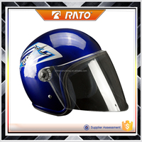 Youth lowcost light blue motorcycle helmet