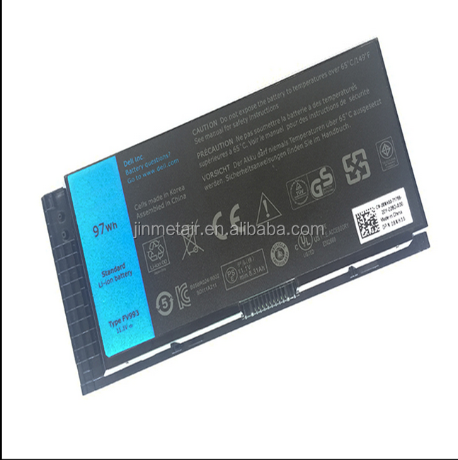 Hot selling! Laptop battery for DELL M6600 M4600 FV993 PG6RC 97WH