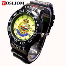 charm sport analog name brand wholesale watches plastic PU band watch