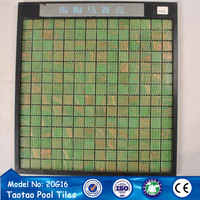 normal size green crystal glass mosaic for pool