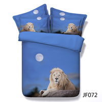 Rare White Lion 3d HD digital animal print bedding set