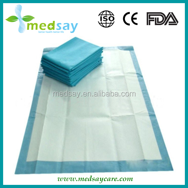 without SAP folded disposable absorbent incontinence underpad