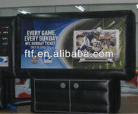 Inflatable display billboard for promotion,outdoor advertising inflatable TV film screen