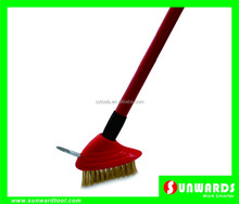 Plastic gap brush,paving brush,with steel spike