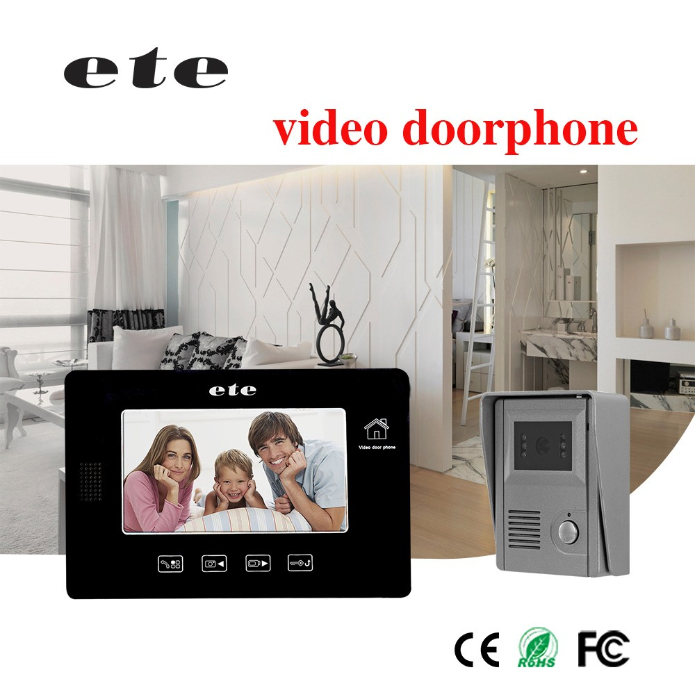 7 inch tft lcd wifi password video door bell , wireless video door bell , ip video door bell system