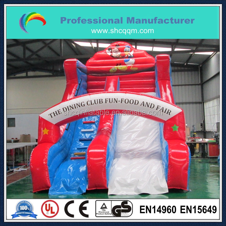 inflatable mini slide for kids,micky inflatable dry slide