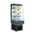 High Quality Glass Door Fridge Display Refrigerator Open Air Display Cooler with CE UL RoHS ETL